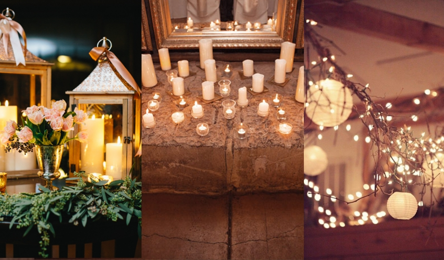 Winter Wedding Lighting