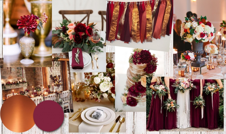 Colour Inspiration: Burgundy and Copper