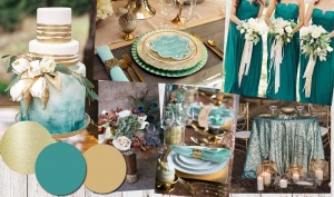 Colour Inspiration: Gold and Teal